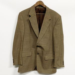 Yves Saint Laurent Brown Checker Two-Button Blazer